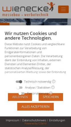 Vorschau der mobilen Webseite www.messebau-wienecke.de, Fred & Michael Wienecke GmbH