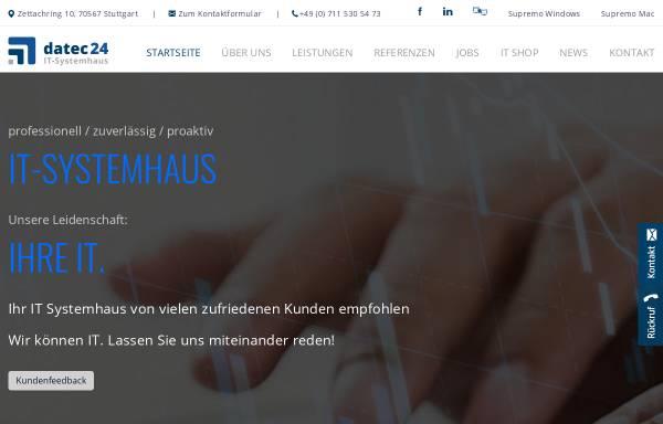 Vorschau von www.datec24.de, datec24 - IT Systemhaus