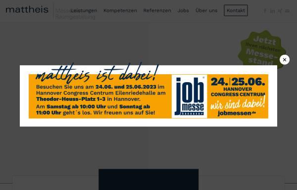 Vorschau von www.mattheis.com, Mattheis Messebau GmbH