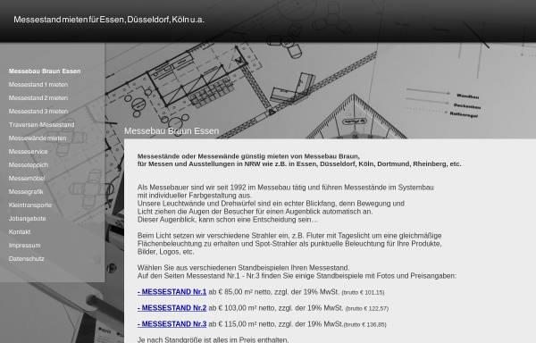 Vorschau von www.messebau-braun-essen.de, Messebau Dieter Braun
