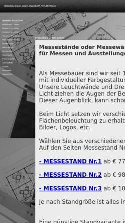 Vorschau der mobilen Webseite www.messebau-braun-essen.de, Messebau Dieter Braun