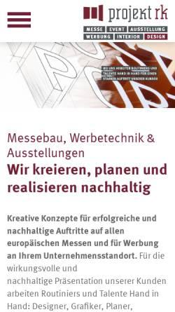 Vorschau der mobilen Webseite projektrk.de, Projekt RK