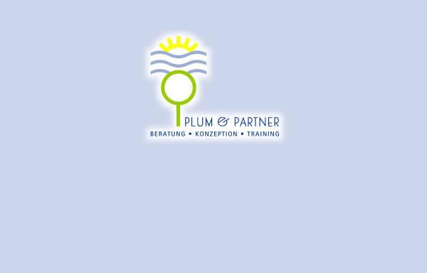Vorschau von www.plum-partner.de, Plum & Partner - Beratung, Training, Coaching, NLP