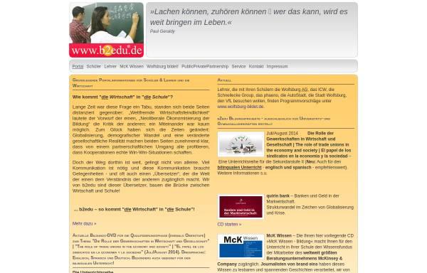 Vorschau von www.b2edu.de, B2Edu - Business-to-Education
