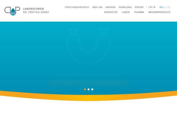 Vorschau von www.cup-freitag.de, CUP Laboratorien Dr. Freitag GmbH