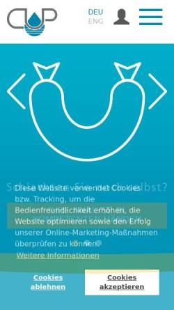 Vorschau der mobilen Webseite www.cup-freitag.de, CUP Laboratorien Dr. Freitag GmbH