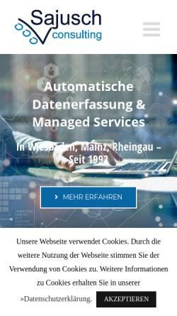 Vorschau der mobilen Webseite www.edv-beratung-sajusch.de, EDV Beratung Sajusch und Partner