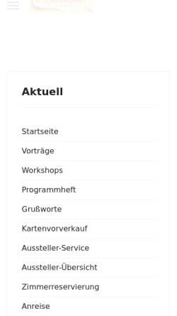 Vorschau der mobilen Webseite www.dorn-kongress.de, Dorn-Kongress