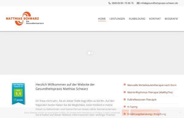 Vorschau von www.gesundheitspraxis-schwarz.de, Schwarz, Matthias