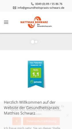 Vorschau der mobilen Webseite www.gesundheitspraxis-schwarz.de, Schwarz, Matthias
