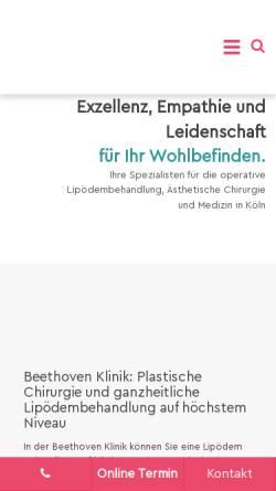 Vorschau der mobilen Webseite www.beethoven5-13.com, beethoven5. 13 Klinik Köln GmbH & Co. KG