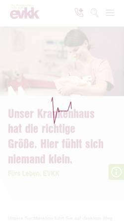 Vorschau der mobilen Webseite www.evkk.de, Evangelisches Krankenhaus Kalk gGmbH