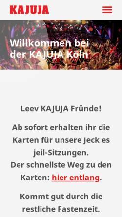Vorschau der mobilen Webseite kajuja.de, KAJUJA-Köln Trägerverein e.V.