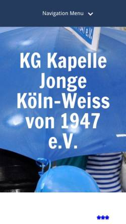 Vorschau der mobilen Webseite www.kapellejonge.de, K.G.