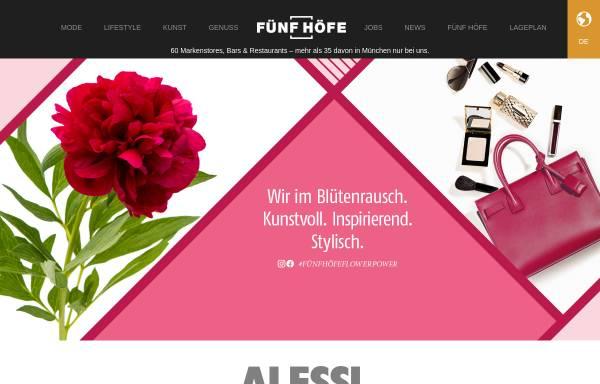 Vorschau von www.fuenfhoefe.de, Fünf Höfe