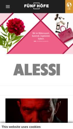 Vorschau der mobilen Webseite www.fuenfhoefe.de, Fünf Höfe
