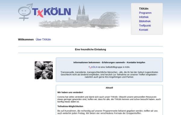 Vorschau von www.txkoeln.de, TXKöln - Selbsthilfegruppe und Treffpunkt in Köln