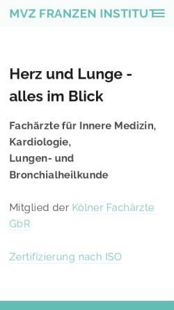 Vorschau der mobilen Webseite www.damianfranzen.de, Privatdozent Dr.med. Damian Franzen