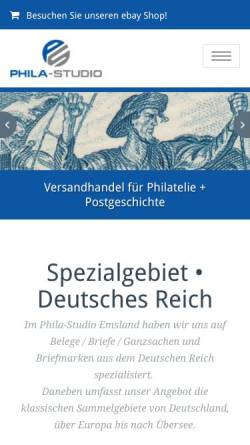 Vorschau der mobilen Webseite phila.studio, Daniela Bergner - Phila-Studio Emsland
