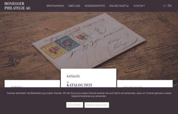 Vorschau von www.ghonegger.ch, Gottfried Honegger Alt-Schweiz Briefmarken (CH)