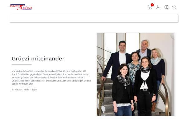 Vorschau von www.marken-mueller.ch, Marken Müller AG (CH)