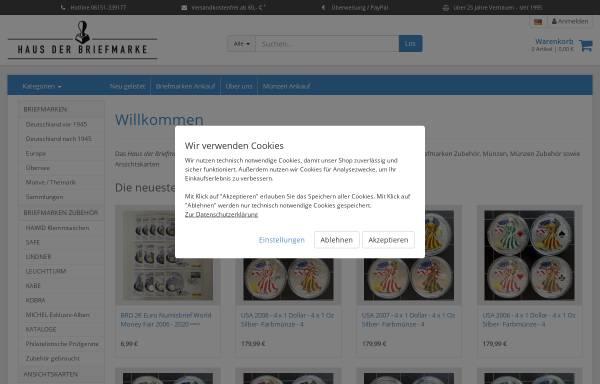 Vorschau von www.hausderbriefmarke.de, Thomas Gompf - Haus der Briefmarke