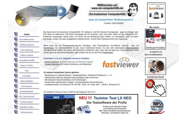 Vorschau von www.ak-computerhilfe.de, ak-computerhilfe