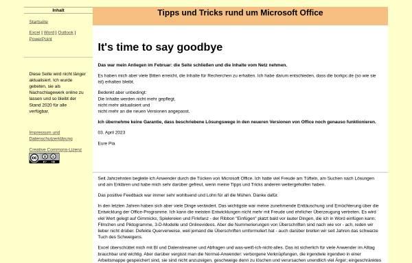 Vorschau von www.borkpc.de, Pia Bork
