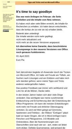 Vorschau der mobilen Webseite www.borkpc.de, Pia Bork