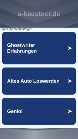 Vorschau der mobilen Webseite a-kaestner.de, Tipps und Tricks rund um Windows 98