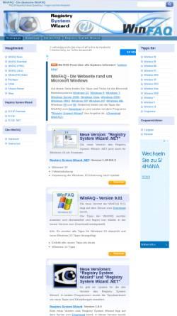 Vorschau der mobilen Webseite www.winfaq.de, Windows FAQ
