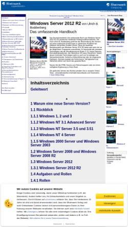 Vorschau der mobilen Webseite openbook.rheinwerk-verlag.de, Windows Server 2008