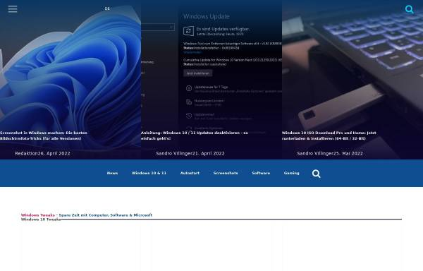 Vorschau von www.windows-tweaks.info, Windows-Tweaks.info
