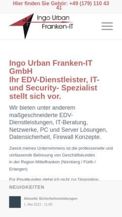 Vorschau der mobilen Webseite www.franken-it.de, Franken-IT - Netzwerke, EDV-Dienstleistungen
