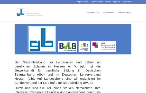 Vorschau von www.glb-hessen.de, GLB Gesamtverband der Lehrerinnen und Lehrer an beruflichen Schulen in Hessen e.V.