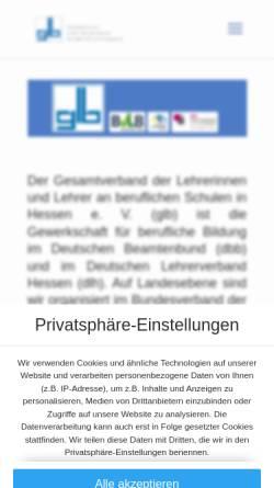Vorschau der mobilen Webseite www.glb-hessen.de, GLB Gesamtverband der Lehrerinnen und Lehrer an beruflichen Schulen in Hessen e.V.