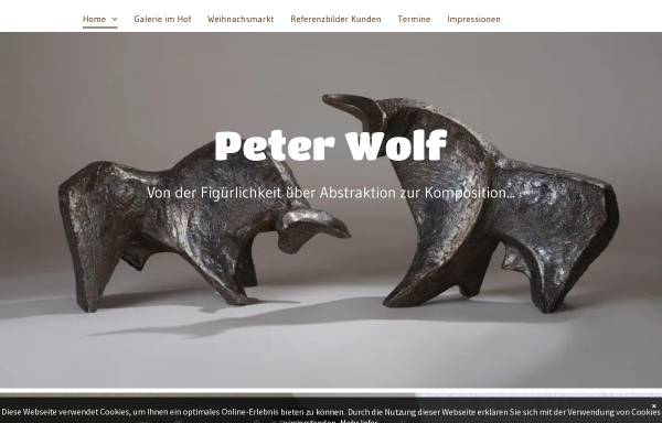 Vorschau von www.wolf-atelier.de, Atelier für Keramik Peter Wolf