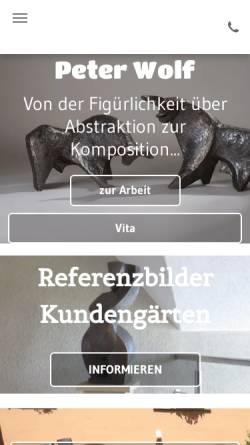Vorschau der mobilen Webseite www.wolf-atelier.de, Atelier für Keramik Peter Wolf