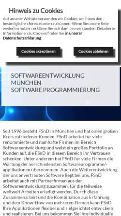 Vorschau der mobilen Webseite www.fsnd.de, FSnD Fredrick's -Software Network & Design