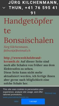 Vorschau der mobilen Webseite www.bonsaischalen.ch, Jürg, Kilchenmann