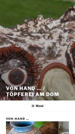 Vorschau der mobilen Webseite von-hand.de, Schröter, Ute