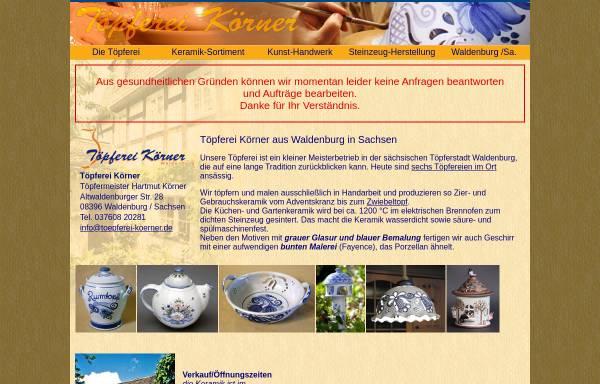 Vorschau von www.toepferei-koerner.de, Töpferei Körner