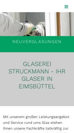 Vorschau der mobilen Webseite www.glaserei-struckmann.de, Glaserei Struckmann