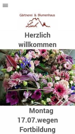 Vorschau der mobilen Webseite gaertnerei-link.de, Blumenhaus und Gärtnerei Link