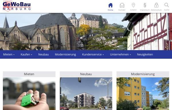 Vorschau von www.gewobau-marburg.de, Gemeinnützige Wohnungsbau GmbH