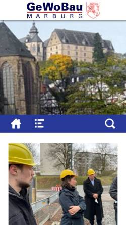 Vorschau der mobilen Webseite www.gewobau-marburg.de, Gemeinnützige Wohnungsbau GmbH