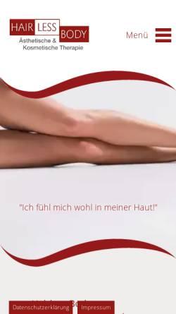 Vorschau der mobilen Webseite www.hairless-body.de, Hairless Body