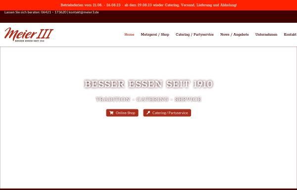 Vorschau von www.meier3.de, Heinrich Meier III & Sohn e.K.