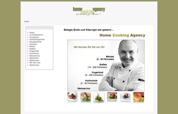 Vorschau von www.homecookingagency.de, Home Cooking Agency