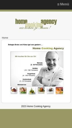 Vorschau der mobilen Webseite www.homecookingagency.de, Home Cooking Agency